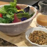 Organic Field Greens with Pumpkin Seeds and Apple Dressing