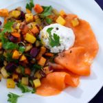 Smoked Salmon with Roasted Vegetable Salad