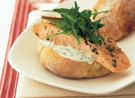 Grilled Salmon in Ciabatta