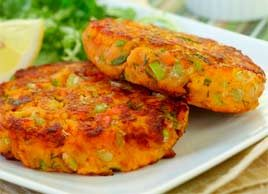 Sweet Potato Salmon Cakes