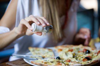 salt pizza