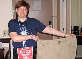 """I ran a half-marathon and lost 75 pounds."""