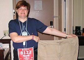 """I ran a half-marathon and lost 75 pounds."""