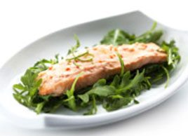 Yogurt and Pesto Salmon
