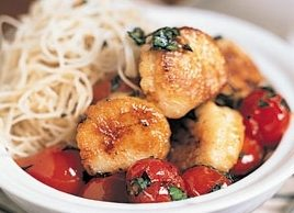 Scallops with Cherry Tomato Saute