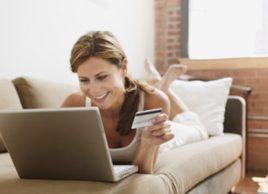 online shopping web woman