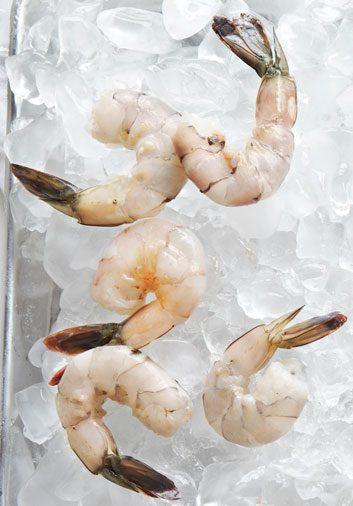 Chipotle Caesar Shrimp on Couscous with Salad