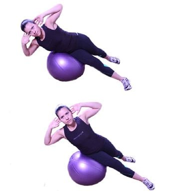 2. Ball Side Lying Oblique Crunch