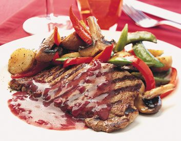 Sirloin Steaks with Port Sauce