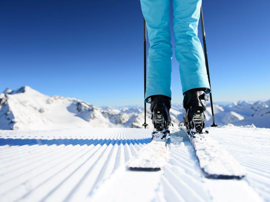 Benefits of skiing to burn calories