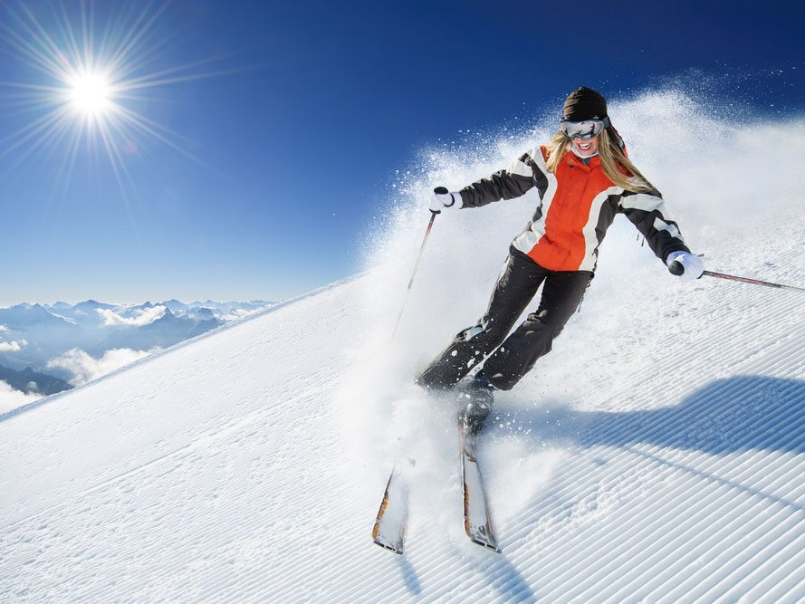 Benefits of skiing for health
