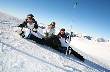 woman on ski hill
