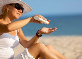 sunscreen skin woman