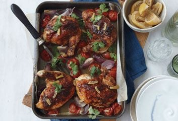 Spice-Rubbed Roast Chicken
