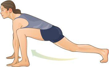 Spiderman lunges stretch
