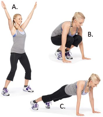 Jacked-Up Squat Thrusts: 2 Minutes