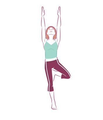 Anti-aging yoga Standing tree