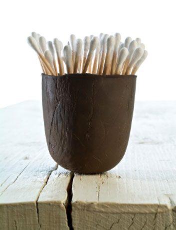 q-tips in mug