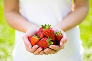 strawberriesinhand