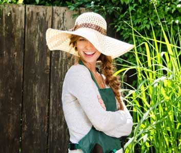 sunhat smiling gardening