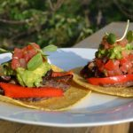 Meatless Monday: Black Bean Tacos with Red Peppers and Mushrooms