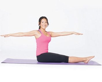 pilates spine twist