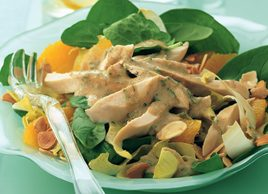 Tarragon Chicken with Baby Spinach