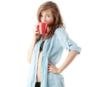 green tea woman coffee flat stomach