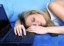 sleep at laptop