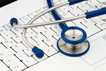 telemedicine doctor laptop computer hospital