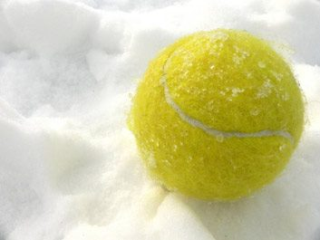 winter tennis snow