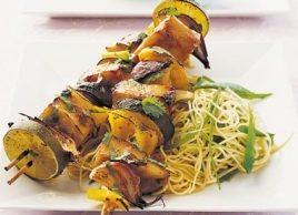 Teriyaki Swordfish Kebabs