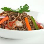 Cold Soba Buckwheat Noodle Salad