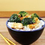 Meatless Monday: Tofu and Roasted Vegetable Rice Bowl with Spicy Peanut Sauce