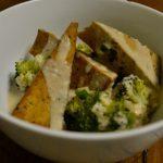 Meatless Monday: Quinoa with Marinated Tofu and Tahini Sauce