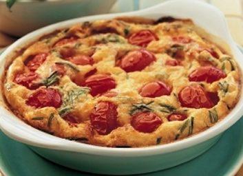 tomato pecorino clafoutis