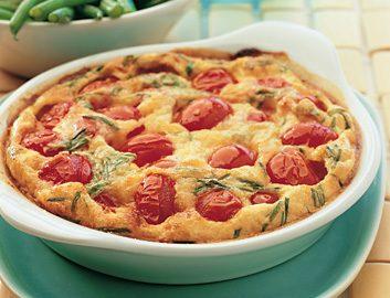 Tomato and Pecorino Clafoutis