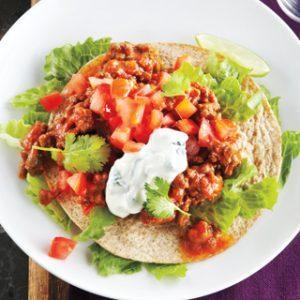 Mexican Beef Tostada Salad