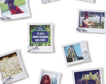 Postal Photo Art Display
