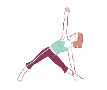 Anti-aging yoga Triangle pose