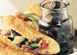Tuna Provencale on a Baguette
