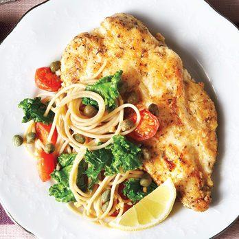 Turkey Piccata & Lemon-Kale Spaghetti
