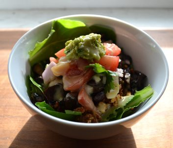 Meatless Monday: Vegan Taco Salad with Creamy Ginger-Lime Dressing
