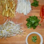 Meatless Monday: Vermicelli Noodle and Tofu Rice Paper Wraps with Peanut Sauce