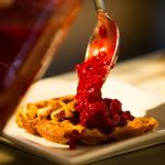 Meatless Monday: Multigrain Waffles with Raspberry Sauce