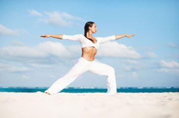 Warrior pose II yoga