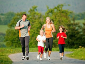 active famiy jogging