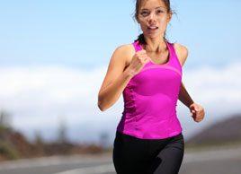 woman running summer fitness