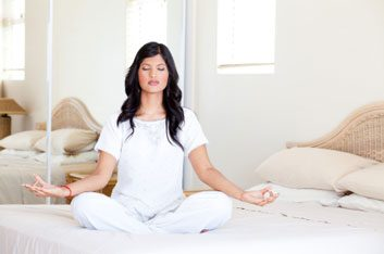 yoga meditation bed relax
