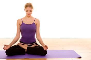 yoga prayer position
